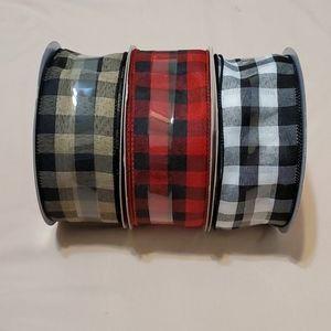 3 Spools Assorted Colors Ribbon